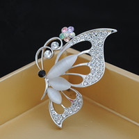 Wholesale Vintage Butterfly Pins Brooches - 2015 Vintage Butterfly Brooches Rhinestone men and women Accessories Anchor christmas pins mixed Decoration New Arrival Alloy Corsage