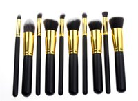 Wholesale One Makeup Kit - Hot Brushes New Makeup Brushes (One Set=10 piece) Professional Brush sets Free DHL Ship