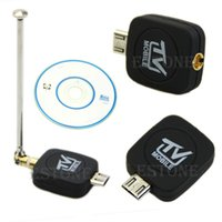 hdtv tablet venda por atacado-Frete grátis HDTV Mini Dongle Vara DVB-T para Android Tablet Smartphone Preto