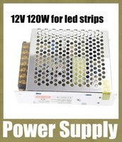 Wholesale Led Strip Case - 12v 120W 10A ac power supply switching mode power supply charger adapter with aluminum case for 5050 led strip dhl free shipping DY020
