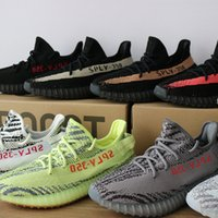 Wholesale White Canvas Bags - 2018 TOP quality Sply 350 V2 Boost men's shoes beluga 2.0 zebra triple White black Bred Running Shoes (Keychain+Socks+Bag+Receipt+Boxes)