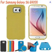 Wholesale Galaxy S4 Mini Dots - New Styling Dot hole hollow Honeycomb point TPU cases cover skin for Samsung Galaxy S6 G9200 S5 mini S4 A7 A5 A3 Note 3 4 Edge Case