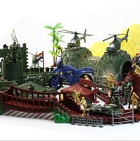 Wholesale Battlefield Figure - ( 200 PCS   Bag ) World War II Simulation Battlefield Soldier Figures Plastic Soldier Model Figure Toys
