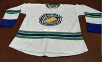Wholesale making seal - Mens California Golden Seals Custom Made White Throwbacks Vintage Jersey or custom any name or number hockey jersey