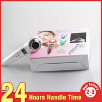 massagem facial ultra-sonora de fótons venda por atacado-Led Photon 3 Luzes Ultrasonic Massagem Facial Remoção de Rugas Rejuvenescimento Da Pele Mini Equipamentos de Beleza Para O Cuidado Da Cara