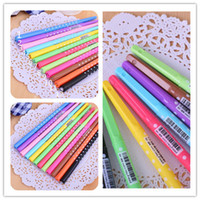 Wholesale Neutral Pen Fashion Student Cute Polka Dots and Writing Smooth Watercolors Hot Student Diamond Head Pen Neutral Pen