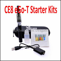 Wholesale Ego Ce9 Electronic Cigarette Kits - CE8 650mah 900mah 1100mah eGo-T Kits CE8 CE9 D5 5ml Atomizers Electronic Cigarette E Cig CE9 Kits as CE4 Starter Blister Kits