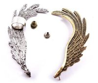 Wholesale Wing Top Ear Cuff - Top quality New European Style Punk Gold Silver Plated metal Wing (Left) Ear Stud Ear Cuff 200pcs 1119#19