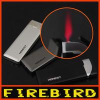 Wholesale Thin Butane Lighter - FIREBIRD Ultra Thin Hot Pink Jet Flame Butane Gas Cigarette Cigar Windproof Lighter