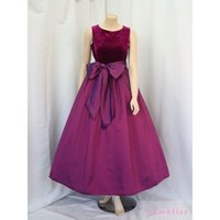 Wholesale Crepe Satin Line - 2016 Taffeta Party Dress Formal Special Occasion Dresses A-line Cheap Evening Dresses With Bow Red Carpet