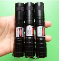 linternas militares de alta potencia al por mayor-Poder militar de gran potencia 5000m 405nm Verde / rojo azul violeta punteros láser SOS Lazer Linterna caza de enseñanza, envío gratis