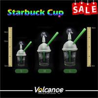 Wholesale starbucks water pipe oil rig online - Starbucks bong Recycler Oil Rigs Glass Water Pipes Glass mm mm mm Male Starbucks Cup Oil Rigs Glass Bongs Oil Rig Recycler