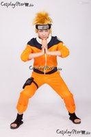 Wholesale Cosplay Naruto Boy - Wholesale- Naruto Uzumaki Naruto Cosplay Orange Boys Naruto Cosplay Costume