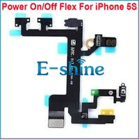 Wholesale Wholesale Cellphone Replacement Parts - Power Flex Cable For iPhone 5S Durable Button Switch On Off Cellphone Replacement Repair Parts New