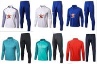 Wholesale Tights Men Suit - 17 18 Chelsea Survetement HAZARD,DIEGO COSTA,OSCAR training suit 17-18 tracksuits tight pants 2017 2018 sportswear 2016 chelsea tracksuit