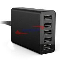 mittlere ladegeräte großhandel-40W 5-Port High Speed Desktop USB Ladegerät mit Smart Port Technologie für iPhone6 iPad Smartphone MID