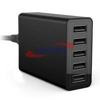 mediados de cargadores al por mayor-Cargador USB de escritorio de alta velocidad de 40 vatios y 5 puertos con tecnología de puerto inteligente para teléfono inteligente iPad iPhone6 MID
