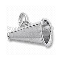 zink-metall preis großhandel-Bester Preis-Zink-Legierungs-Metallrhodium überzog Megaphon-Cheerleader-Zuhälter-Charme-Zusatzlegierungsfenstercharme Bronze