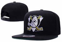 poderoso snapback al por mayor-2018 NHL Mighty Hockey snapback sombreros Anaheim Ducks tapa de hueso flat moda Hiphop sombreros deportes baratos para hombre mujeres gorras de béisbol