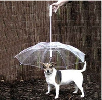 Wholesale Cool Pet Supplies Useful Transparent PE Pet Umbrella Small Dog Umbrella Rain Gear with Dog Leads Keeps Pet Dry Comfortable in Rain
