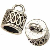 Wholesale Metal End Caps - cords end caps diy bracelet metal bead caps for jewelry making antique silver 7mm round hole new fashion jewelry findings 11*14mm 100pcs