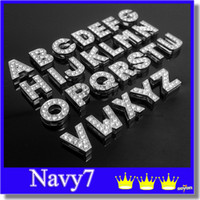 10MM 78pcs cristallo scintillante A-Z Alfabeto Lettera Floating fascino fascini Locket iniziali Sospensioni di Floating Locket fascini di DIY