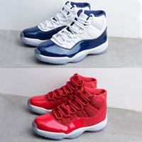Wholesale Model Cotton - Drop Shipping Retro 11 Basketball Shoes 2017 New Models Airs 11S Win Like 82   Win Like 96 Gym Red Nave Blue Sport Sneakers