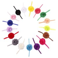Wholesale shabby chic headbands for sale - Group buy Shabby Chic Flower baby headbands Thin Elastic Headband For Girls Infant Flower Headband Boutique Hair Bows Children s hair accessories