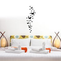 Wholesale 3d Mirror Butterflies - 3D Wall Stickers Stereo Plastic Acrylic Mirror Paster Butterfly Shape Anti Fouling Sticker For Home Decor 7 5nr B