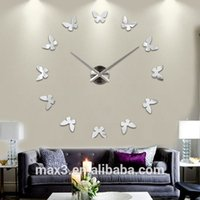 12S001-S Max3 Original 3D espelho decorativas Mordern Wall Clocks Compras on-line