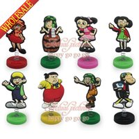 Wholesale 1pcs El Chavo Spring Mini PVC Cartoon Figure Doll Stands Cartoon Decoration Ornaments Gift