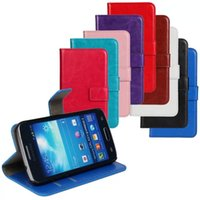 Wholesale Galaxy Trend Flip - For Galaxy Express 2  Core plus Trend lite ACE 3 Flip Wallet Retro Card Leather Case Cover For Samsung Trend Plus S7580