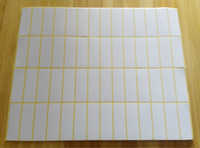 Single-Sided blank label stock - New arrival stock white or blank rectangle mm office self adhesive sticker label