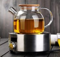 Wholesale Wholesale Glass Tea Set - 1000ml Heat-Resistan 1000ml Heat-Resistan Glass Teapot simple tea kettle tea-pot Convenient Office Tea Pot coffee pot