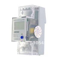 Wholesale Digital Kilowatt Meter - 5-65A 220V 60Hz Single Phase Reset To Zero DIN-rail Kilowatt LCD Hour kwh Meter order<$18no track