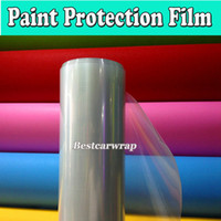 Wholesale protection for car - Glossy 3 Layers Transparent Car Paint Protection Film Clear Vinyl For Car Protection PPF Size:1.52*30m Roll