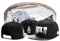 Wholesale K Pop Snapback - F**K IT cayler & sons black cotton+leather snapback hip hop hats for men women fashion bboy pop snap backs street cap sports caps TYMY 194