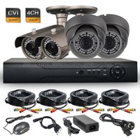 Wholesale 4CH HD P Realtime MP HD CVI Indoor Outdoor Security Camera DVR CVR System