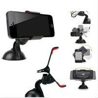 Wholesale Desktop Camera Car - Universal Cellphone Car Mount Holder Windshield Desktop Bracket Holders For Cell Phone Smart phone PDS GPS Camera Recoder