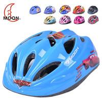 Wholesale Moon Bicycle Helmet - MOON Top Quality Children Cycling Helmet Integrally-molded Kids Bicycle Helmet for Road Mountain170g Kids Bike Helmet