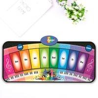 Wholesale Crawling Blanket Music - Wholesale- Baby Music Mat Carpet Rainbow Piano Baby Music Dancing Crawling Blanket Rug Toys