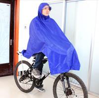 Wholesale Bicycle Rain Gear - Wholesale-Fashion Cycling Bicycle Bike Raincoat Rain Cape Poncho Cloth Gear Rainproof Blue