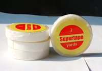 Wholesale Hair Adhesives - No shine tape 3 yards liner side to base strong adhesives glue for lace frontal wig reapplication tape for the tape in hair