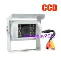 Wholesale Sharp Ccd Car - 18 LED IR 1 4 Sharp CCD Car rear view Reversing Camera Waterproof + 10m Video Cable White Free Shipping