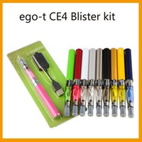 Kits t CE4 thermoformées eGo HOT 1,6 ml atomiseur ce4 Clearomizer 650/900 / 1100mah ego-t batterie usb chargeur emballage blister