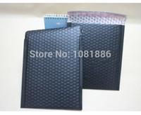 Wholesale Metallic Mailers - Wholesale-Size 20*25+4cm Free Shipping Black metallic bubble mailer   black padded shipping envelope