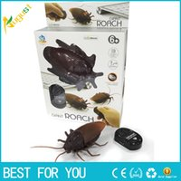 Wholesale Plastic Insects Toys - New Arrival Remote Control Cockroaches Roach Christmas Toy Gift Prank Insects Joke Scary
