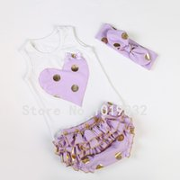 Girl bloomers chocolate - Baby Girl Clothing Set Tank Top Bloomer Headband
