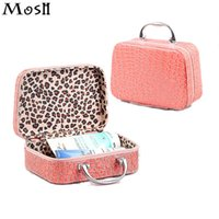 Wholesale Girls Vanity - Gift 2017 Korean Portable Cosmetic Bag Vanity Case Pouch Stone Grain Daily Necessities Storage Organizer Wash Girl Makeup Case