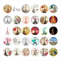 Wholesale Eiffel Tower Buttons - newest Eiffel Tower snap button jewelry charm popper for bracelet 30pcs   lot GL030 noosa,jewelry making supplier